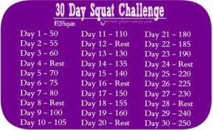 30 Day Squat Challenge – Pharr Away